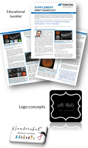 logo design and educational booklet