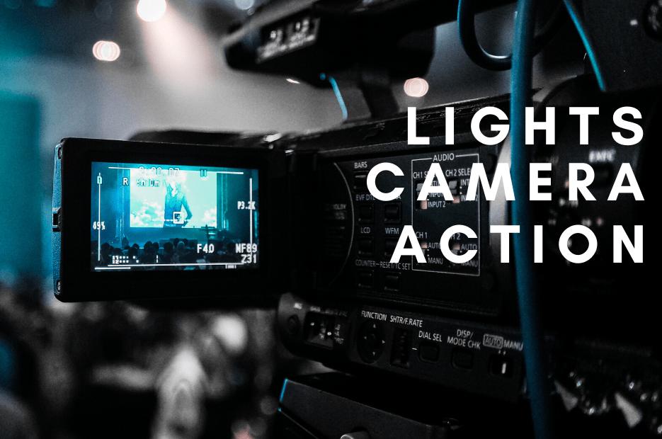 presenting to camera