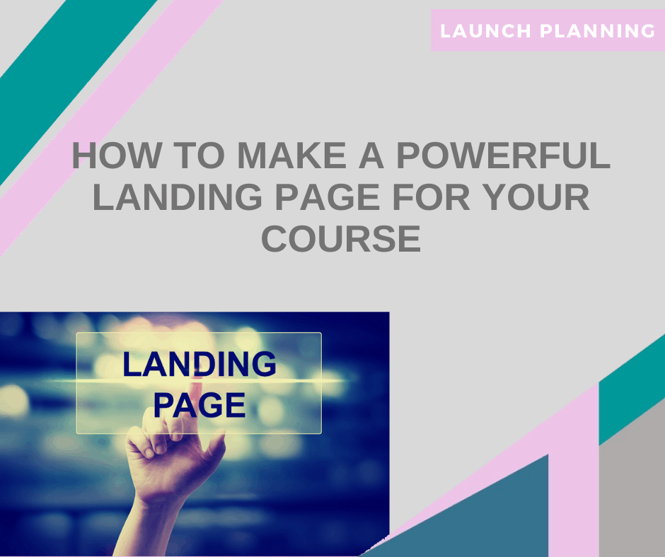 how to create a powerful landing page for your course