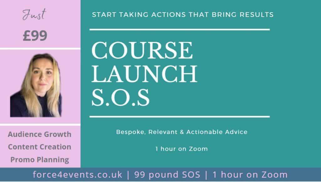 Course launch SOS call