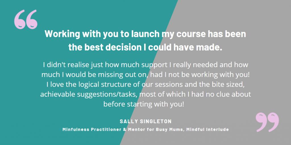 sally singleton testimonial